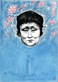 Sakura_Japan homeless art portrait_Geoff Read